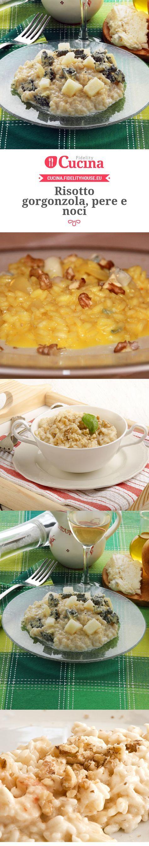 Risotto gorgonzola, pere e noci