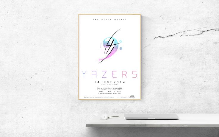 Mockup of Yazers' Matinée Concert Ad Poster