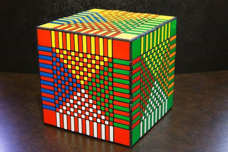 17x17x17 Rubik's Cube | Superflip Pattern