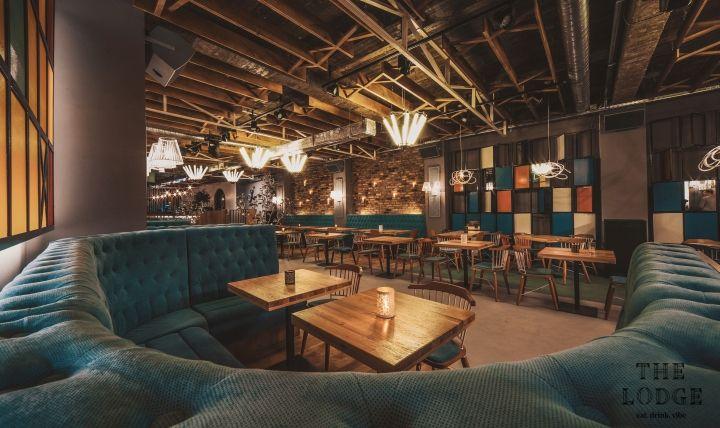 В ресторане Lodge желтой офисной архитектуры, Констанца – Румыния » Розничная дизайн блога
