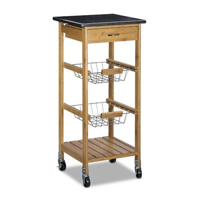 Relaxdays Bamboo Drink Trolley