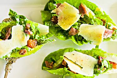Baby caesar salads recipe, NZ Woman's Weekly – Treat your Christmas guests to something special with these baby caesar salads. – foodhub.co.nz