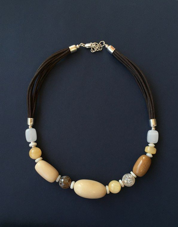 Tagua, agates, golden calcite and quartz, Polina Usatova (2014)