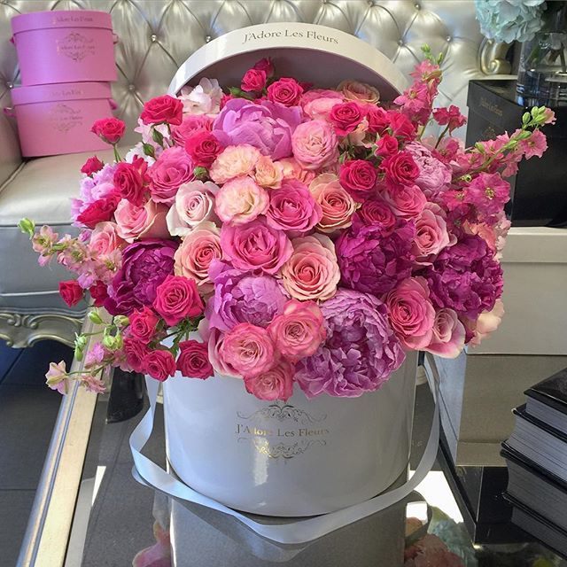 When your girl loves peonies and pink