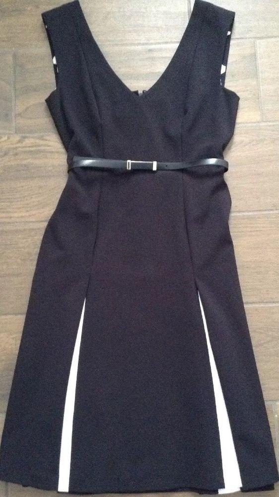 86cd5e6091d3 Nwot Donna Morgan Black Ivory Sleeveless V-neck Dress Size 2  fashion   clothing  shoes  accessories  womensclothing  dresses (ebay link)