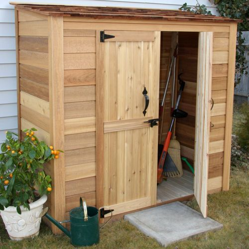 from wayfair garden chalet 7 ft w x 3 ft d wood lean to shed by outdoor living today