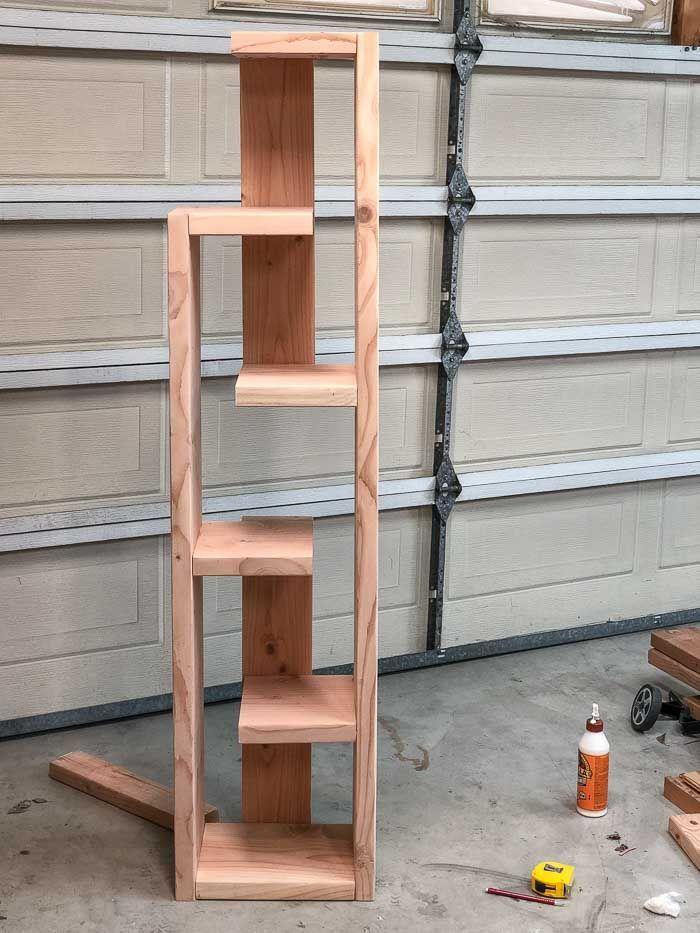 How To Build A Modern Diy Bookshelf In 5 Steps Bookshelves Diy Diy Bookshelf Plans Diy Bookshelf Wall