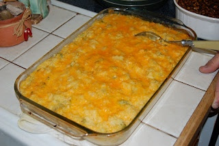 broccoli and cheese casserole...I might add some shredded chicken to it as