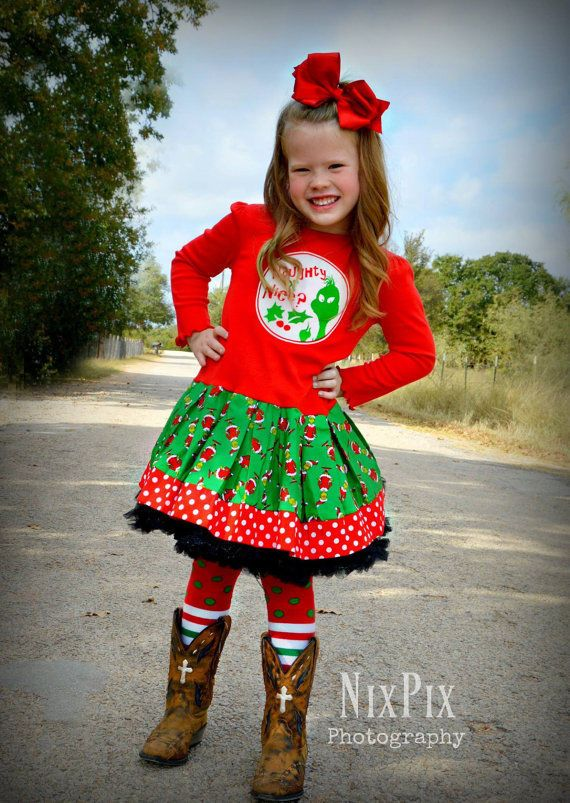 Girls Grinch dress grinch stole christmas 3T 4T 5T 4/5 6 ...
