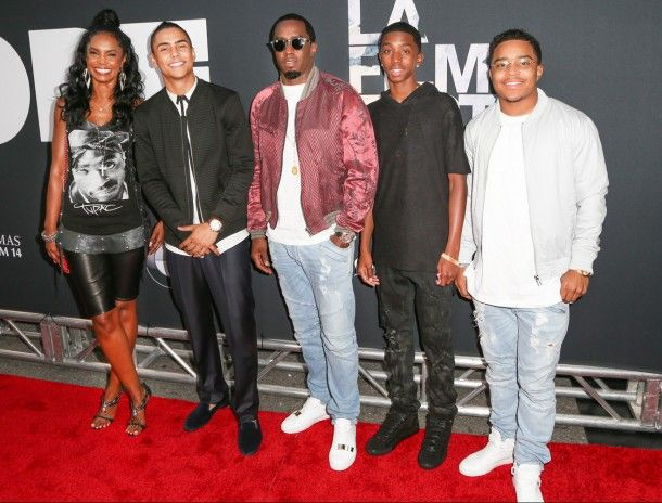 Kim Porter, actor Quincy Brown, Sean 'Diddy' Combs, Christian Combs and Justin Combs DOPE Premiere....