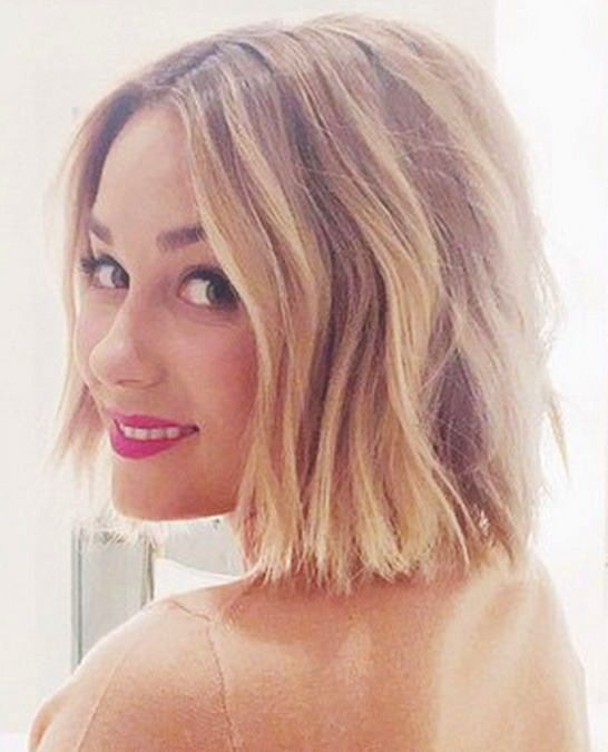 Lauren Conrad short wavy bob hairstyle