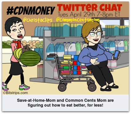 #CDNmoney chat co-hosts @Christa Clips: Save-at-Home-Mom and @Hollie Pollard will chatting about How to Eat Better, for LESS at this week's twitter chat. Join ...