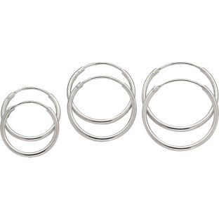 Buy Sterling Silver Hoop Earrings - Set of 3 at Argos.co.uk - Your Online Shop for Ladies' earrings.