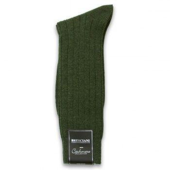 Cashmere mid-calf Bresciani Socks - Pine