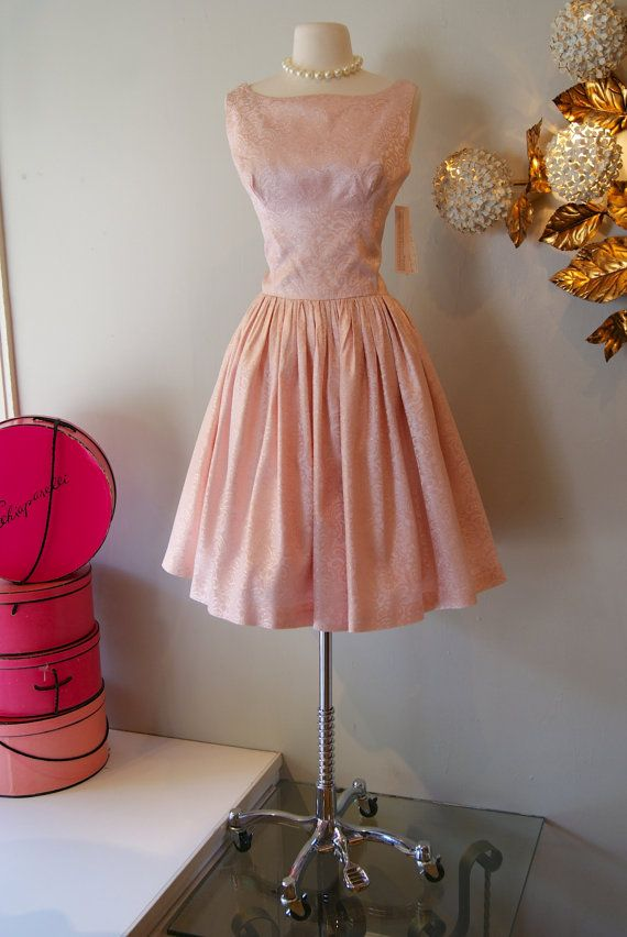 Vintage 1960's Dress // 60's Sparkle Pink Party by xtabayvintage, $198.00