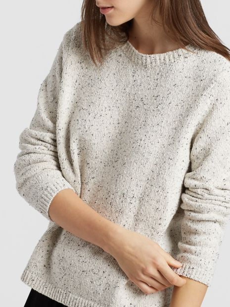 982c2ea28f Recycled Cotton Speckle Round Neck Top