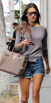 #Hermes #Birkin  handbag Allesandra Ambrosio  www.rentfashionbag.com