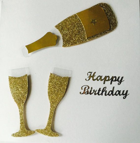 Happy Birthday Card Champagne Lover by CreationsbyLindsay17