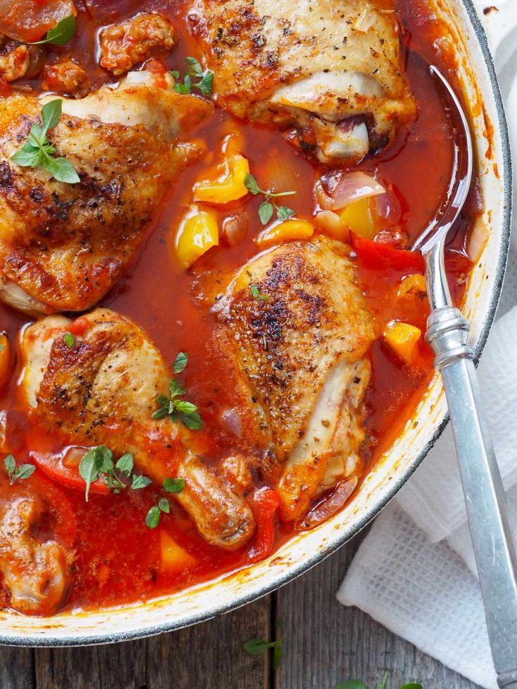 Kylling og chorizo gryte