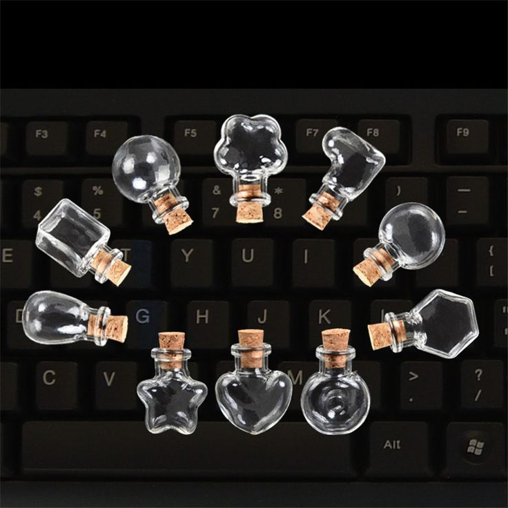 100pcs Glass Mini Bottles Pendants Small Diy Bottles With Cork