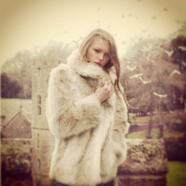@Ruby+Ed Siberian stone fur jacket #fauxfur #luxury