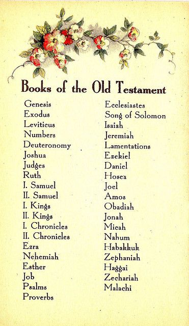 Books Of The Old Testament 25