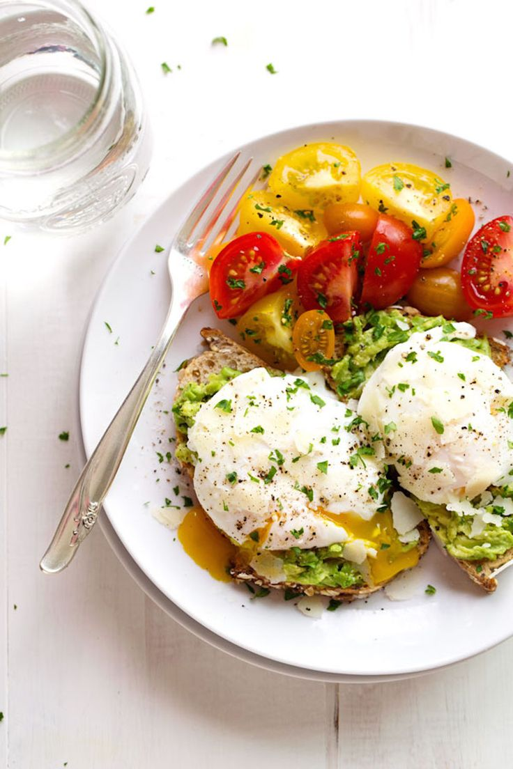 avocado toast with simple poached egg