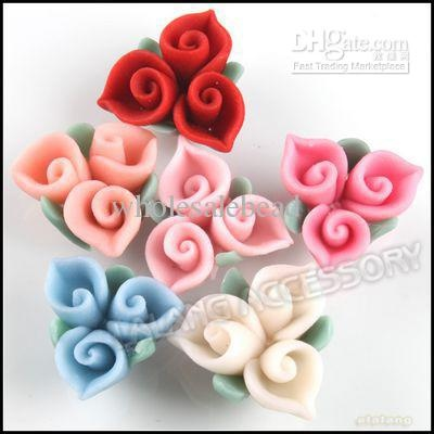 Cuore Fimo Polymer Clay Bead Charms