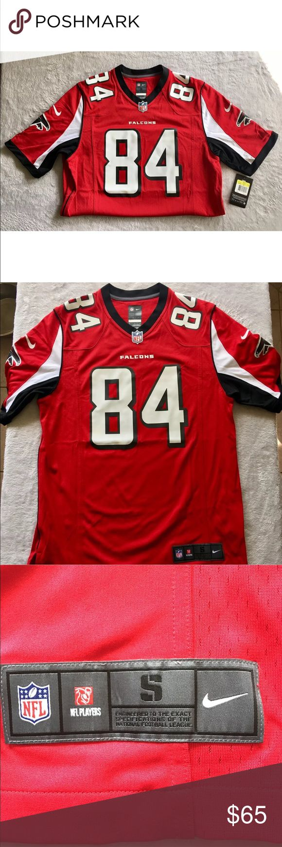 Nike NFL Atlanta Falcons Jersey Roddy White NIKE ATLANTA FALCONS RODDY WHITE NFL JERSEY #468943-689  Size: Small, Mens  Color: Red, Black, White  Condition: New with Tags, 100% Authentic Nike Shirts Tees - Short Sleeve