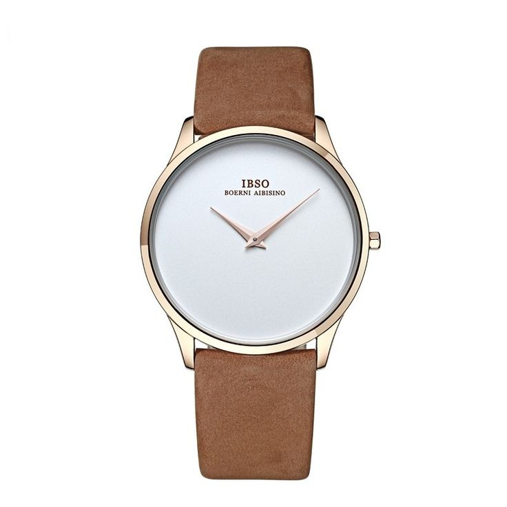 Genuine Leather Womens Minimal Gold Wristwatch - Thieve is a curated list of the best products and gift ideas from AliExpress.
