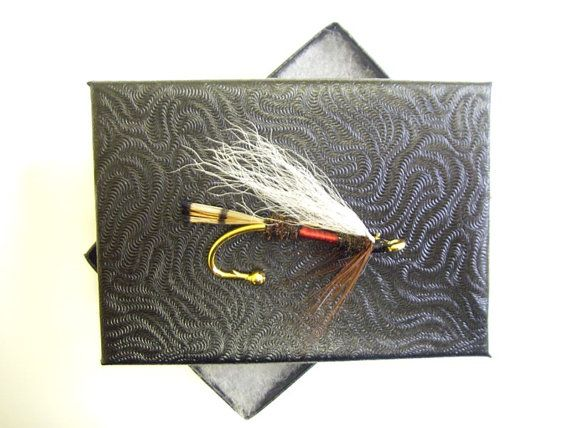Royal Coachman Trout Fly Brooch Hat pin Vest pin by Ayuflytyer