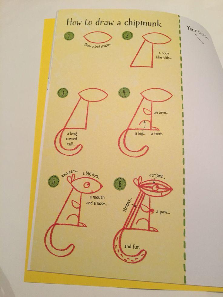 How to draw a chipmunk #raisasbooks http://org.usbornebooksathome.co.uk/RaisBooks/catalogue/catalogue.aspx