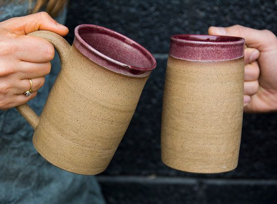 Beer Mug / Pottery Beer Stein / Large Handmade Ceramic Beer Mug / Beer tankard / Gift for Boyfriend