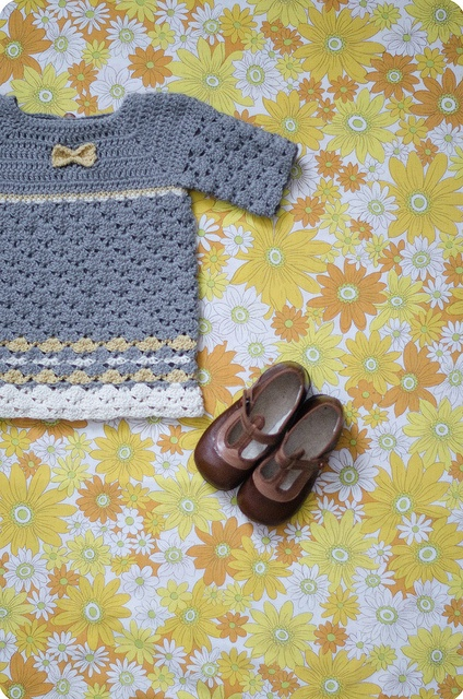 """Basic Bodice (can be found free on rav) and closed up """"sweater set"""".  Love the stripes.  :)"""