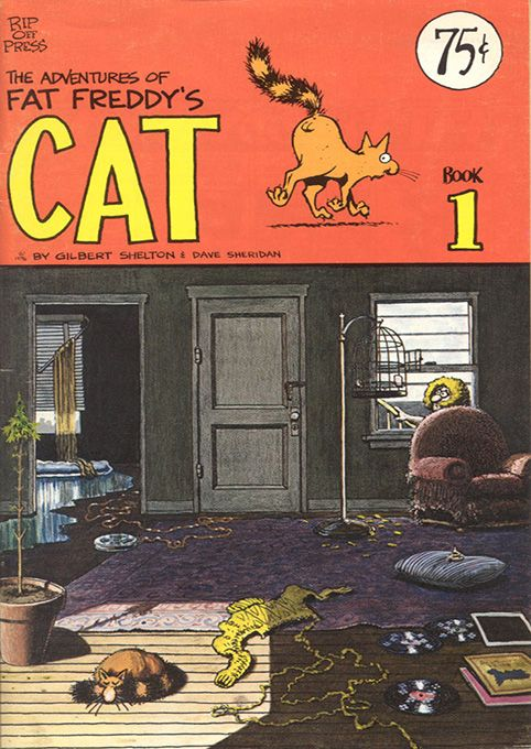 The Adventures of Fat Freddy's Cat 1 by #Gilbert_Shelton #underground_comics