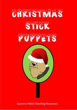 Animal Stick Puppets - Christmas theme