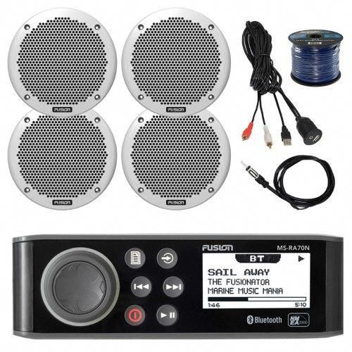 Fusion Marine AM/FM Bluetooth Stereo, 4x 6' 150W Speakers