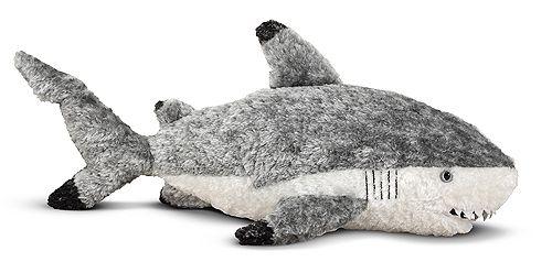 Finn Shark Stuffed Animal | Toys for 3-4 year olds | Melissa and Doug
