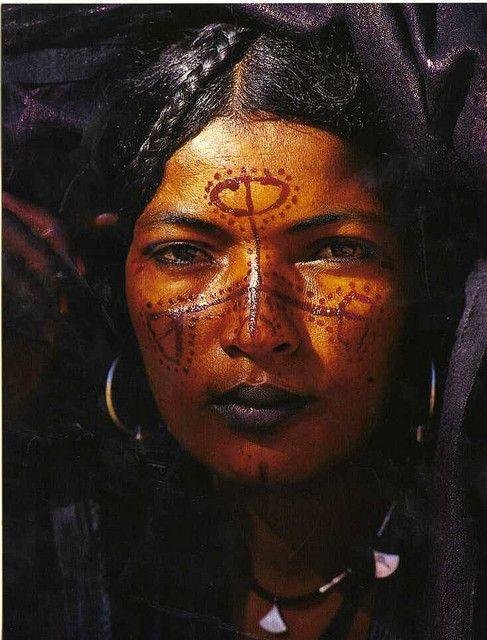 Curiosos tatuajes. Tuareg Beauty