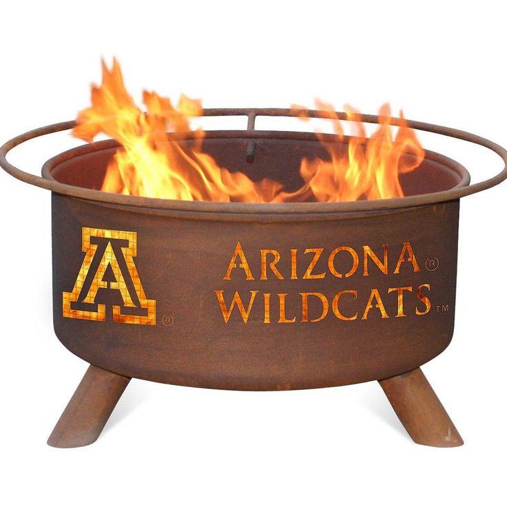 Arizona Wildcats Patio Fire Pit & BBQ Grill Set