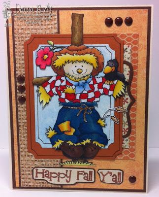 """High Hopes Stamps: Happy Fall Y'all by Donna using """"Lg. Guard Duty Rudy"""" (T048) & """"Happy Fall Y'all"""" (G086)"""