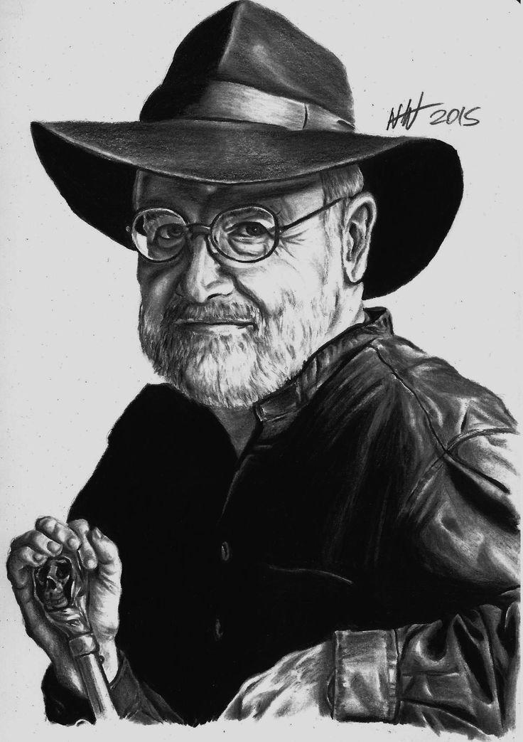 Sir Terry Pratchett pencil portrait