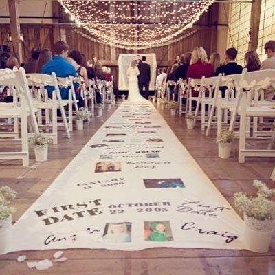 Buena idea pero quedaría más bonito con el diseño que concuerde con la boda y la decoración