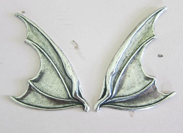 NEW Silver Bat Wing Findings 2961. $6.50, via Etsy.