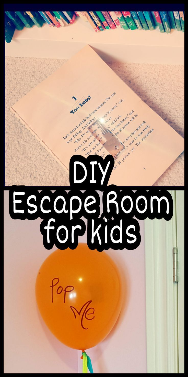 DIY escape room for kids! I tried this at home with my kids, but it could easily…
