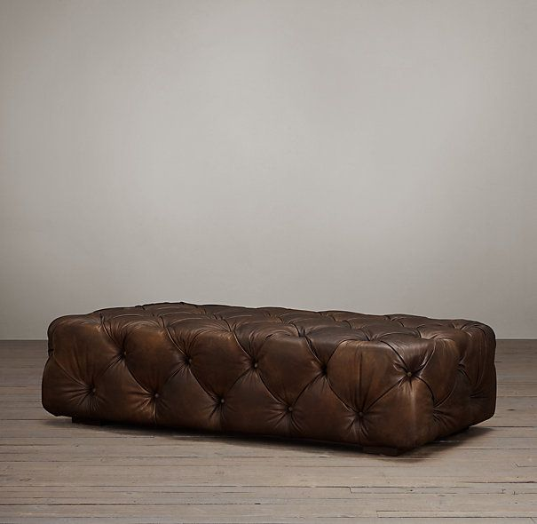 Soho Tufted Leather Ottoman__this would be nice in a very smooth layout as well.
