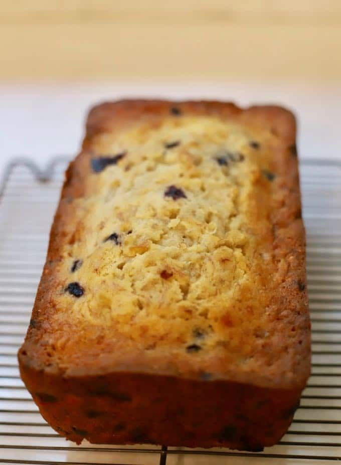 Buttermilk Banana Bread With Blueberries Recipe Buttermilk Banana Bread Banana Bread Blueberry Banana Bread