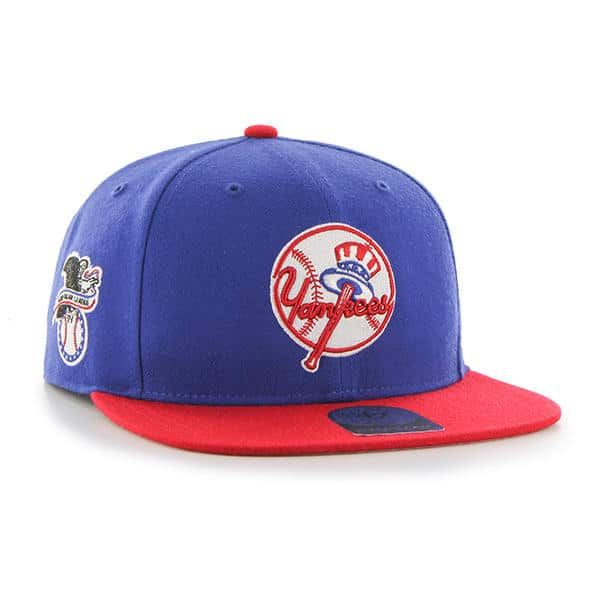 e5952816b2eb New York Yankees 47 Brand Blue Red Classic Sure Shot Adjustable Hat ...