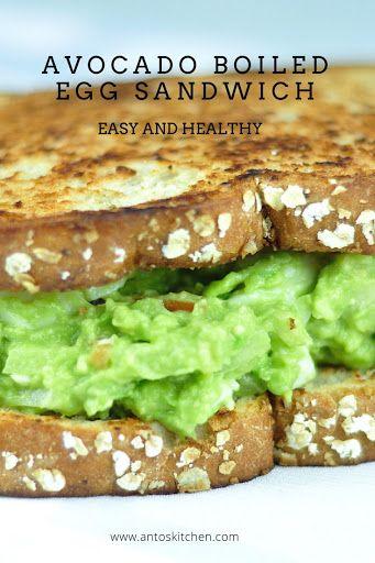 Avocado egg sandwich. #avocado #egg #sandwich
