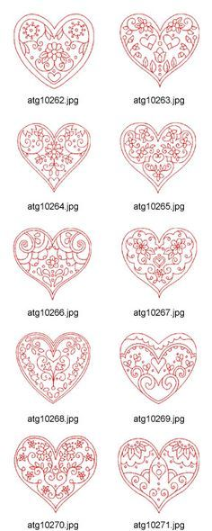 Heart redwork patterns products pinterest for Chocolate filigree templates